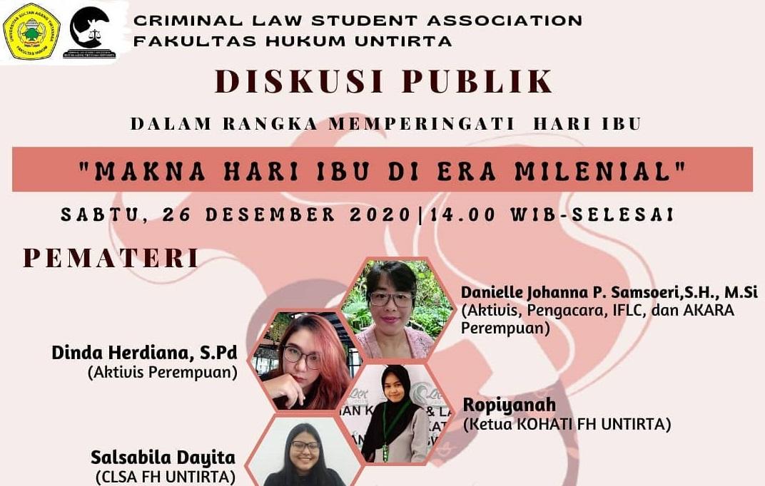 CLSA Fakultas Hukum Untirta Adakan Diskusi Publik