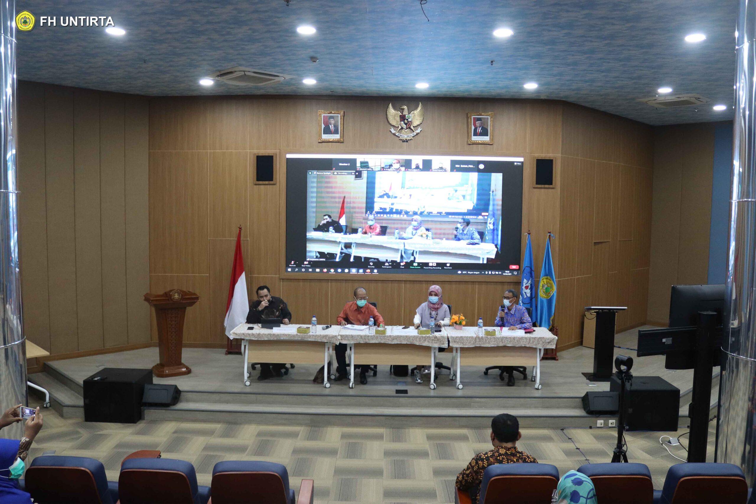 Dosen Fakultas Hukum Untirta Menjadi Narasumber Diskusi Publik yang Diadakan oleh Badan Keahlian DPR RI dan Untirta