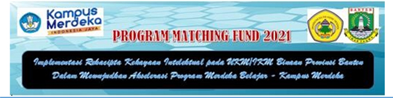 Serah Terima Mahasiswa MBKM pada Program Matching Fund Rekacipta Kekayaan Intelektual 2021