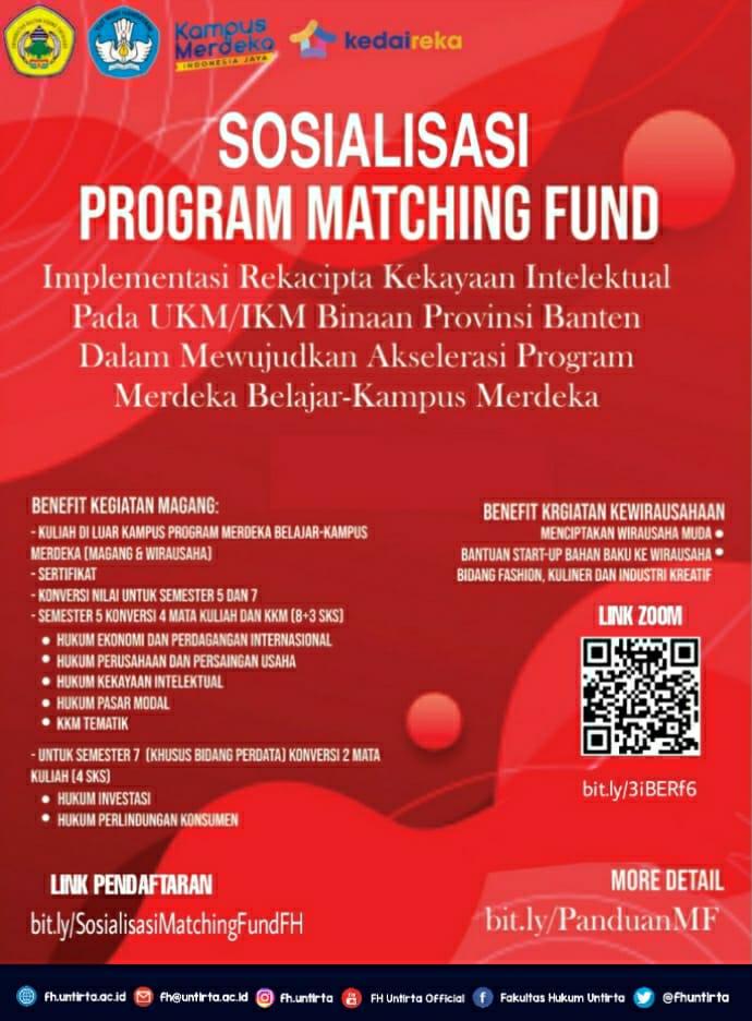 Sosialisasi Program Matching Fund