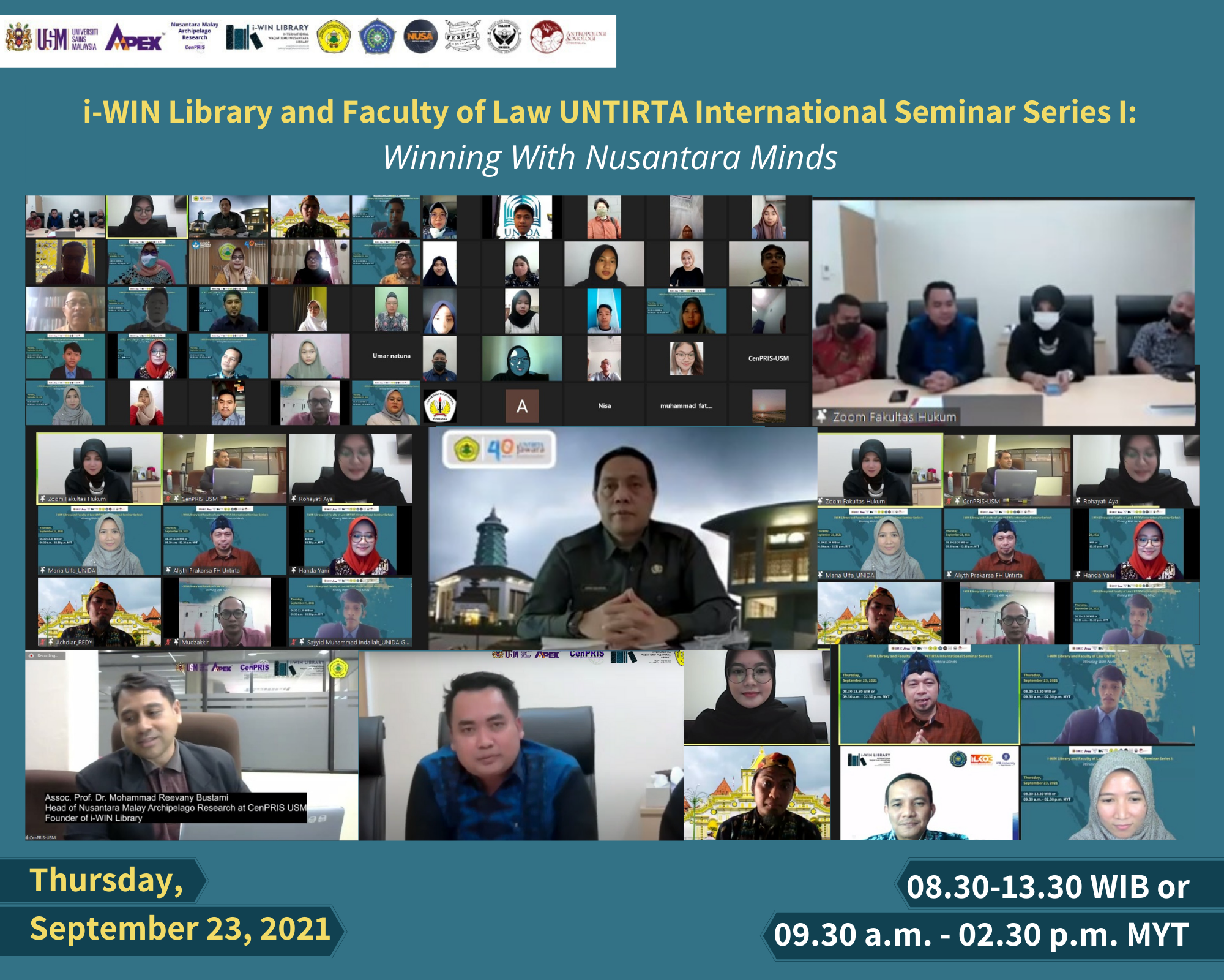 "Fakultas Hukum Untirta dan i-WIN Library Adakan Seminar Internasional Series I dengan tema ""Winning With Nusantara Minds"""