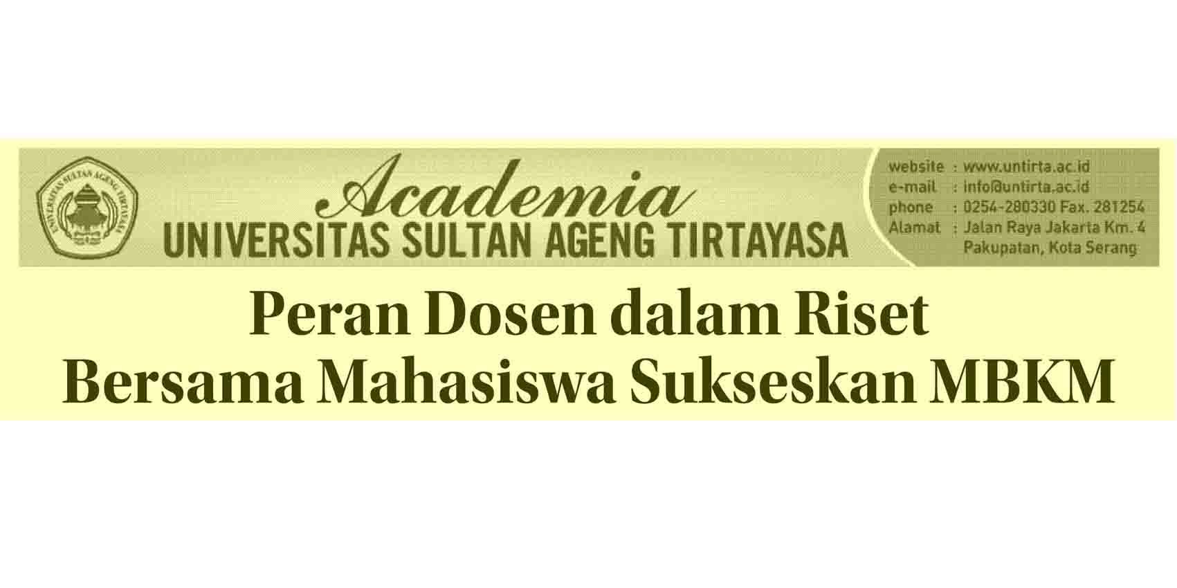 Peran Dosen dalam Riset Bersama Mahasiswa Suskeskan MBKM