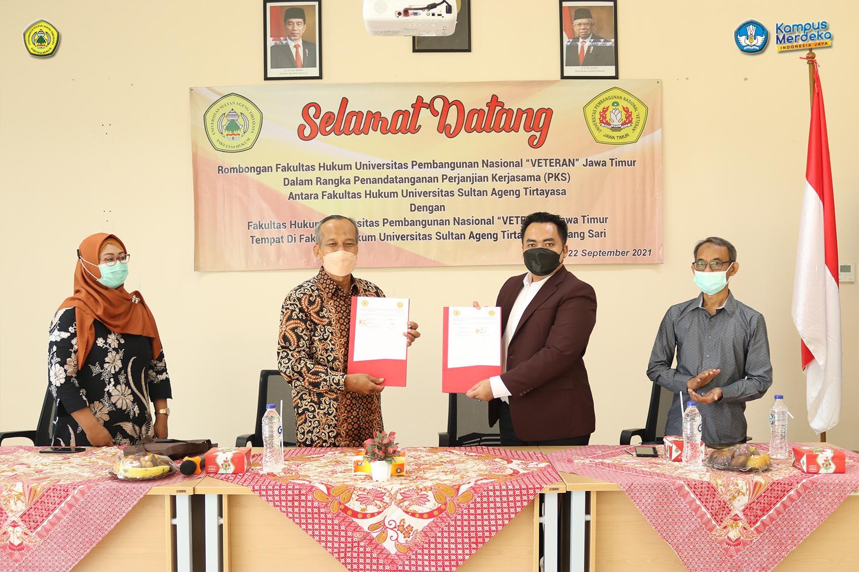 Fakultas Hukum Untirta Adakan Kerjasama dengan Fakultas Hukum Universitas Pembangunan Nasional Veteran Jawa Timur