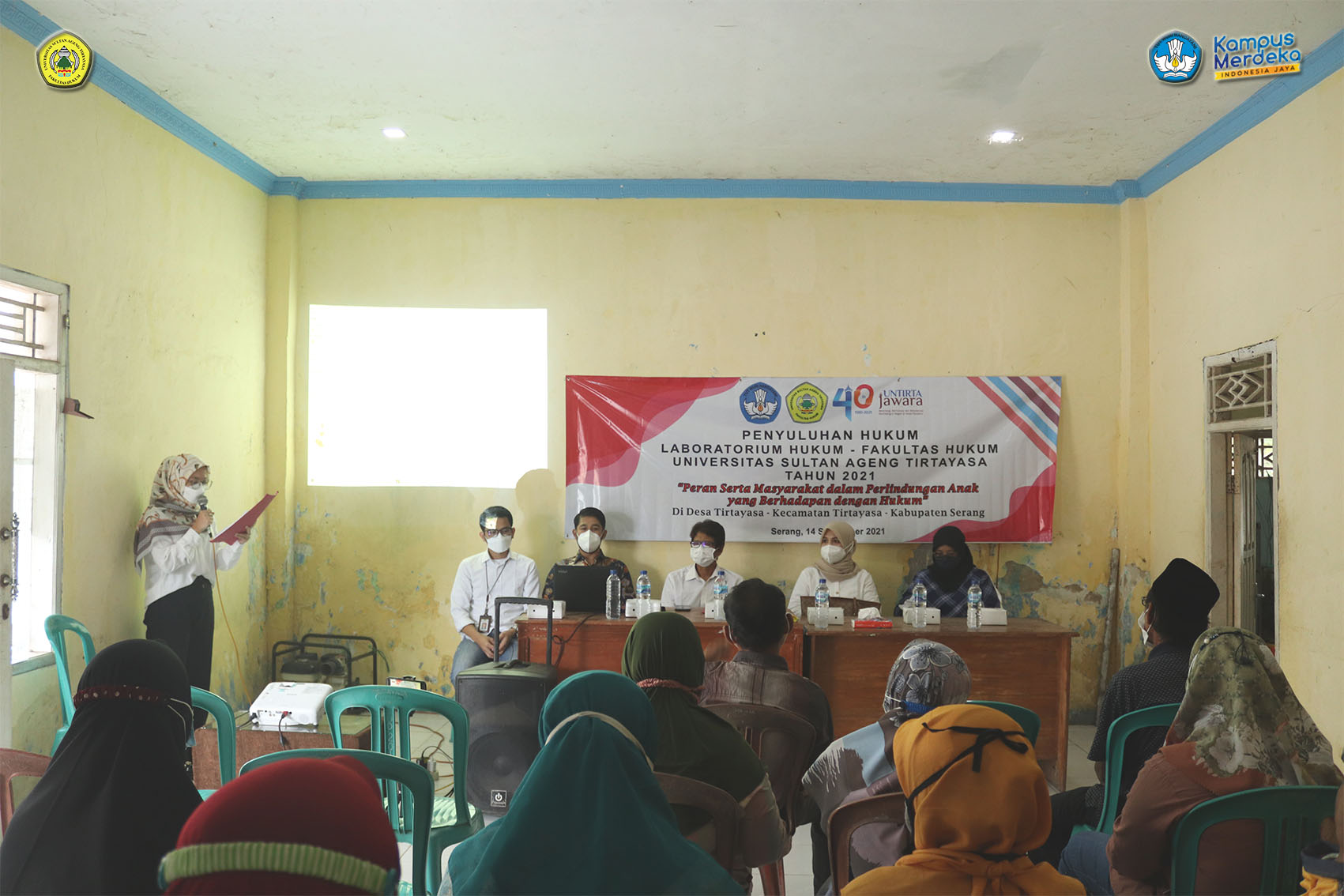 Laboratorium Fakultas Hukum Untirta adakan Penyuluhan Hukum Di Desa Tirtayasa
